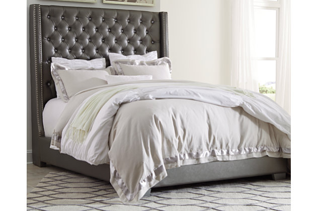 Coralayne King Upholstered Bed Ashley Furniture Homestore