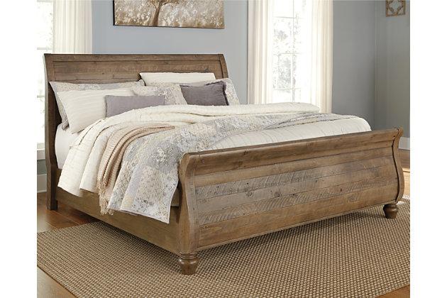 Trishley King Sleigh Bed Ashley Furniture Homestore