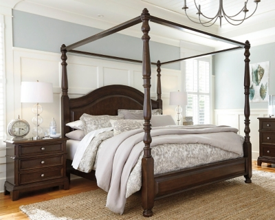 Ashley King Canopy Bed