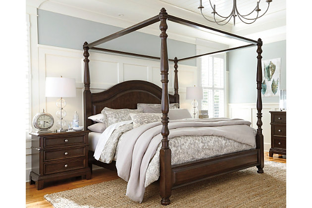 Canopybed lavidor queen canopy bed | ashley furniture homestore