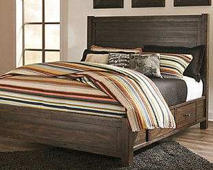Rokane Queen Poster Bed with Storage, , large