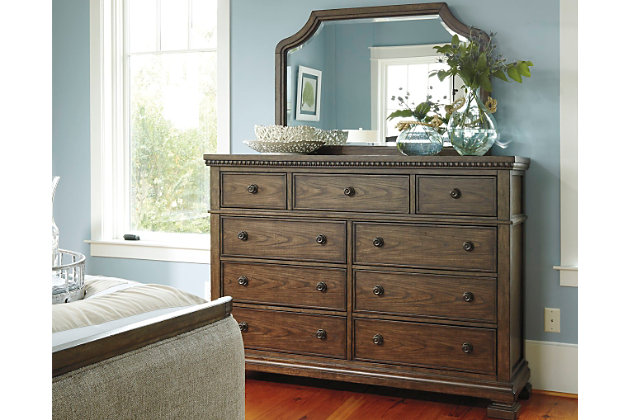 Larrenton Dresser And Mirror Ashley Furniture Homestore