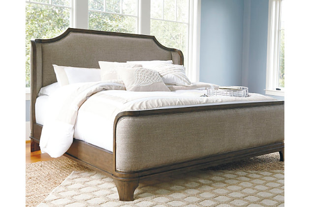 Room decorating idea with this pieceLarrenton Queen Panel Bed   Ashley Furniture HomeStore. Ashley Furniture King Bedroom Suite. Home Design Ideas