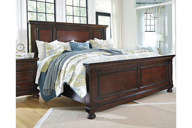 Porter queen panel bed ashley furniture homestore for Meuble ashley circulaire