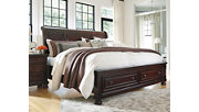 Porter Queen Sleigh Bed, Rustic Brown, rollover