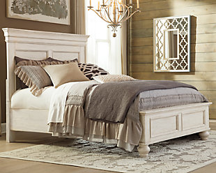 Marsilona King Panel Bed, White, rollover