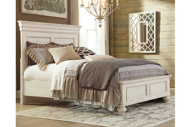 white marsilona queen panel bed view 1 - Bed