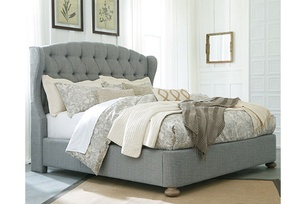 Olurg Queen Upholstered Bed, Ashley Furniture Tufted Bed