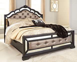 Quinshire Queen Panel Bed, Dark Brown, rollover