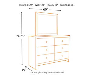 Mayflyn Dresser and Mirror, , large
