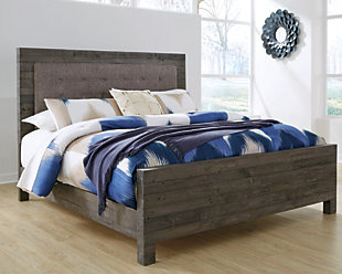 Mayflyn Queen Panel Bed, Gray, rollover