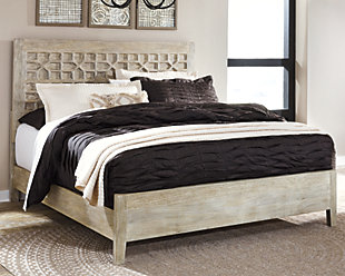 Halamay Queen Panel Bed, Gray, rollover