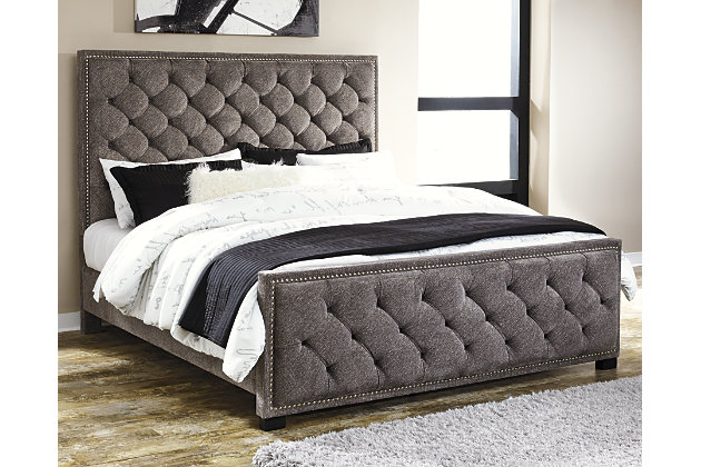 Halamay Queen Upholstered Bed Gray Large