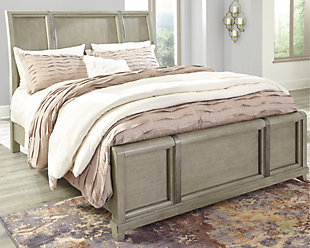 Chapstone Queen Sleigh Bed, Gray, rollover