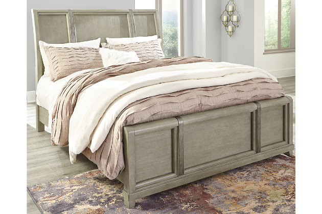 Chapstone Queen Sleigh Bed, Gray, large