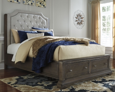 Panel Bed Storage Brown Metallic Queen Product Photo 425