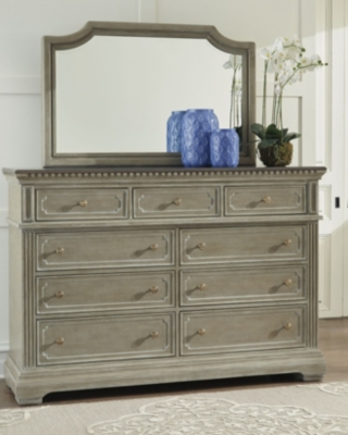 Mirror Two Tone Brown Dresser Product Photo