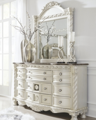 Mirror Pearl Silver Dark Brown Dresser Product Photo 221