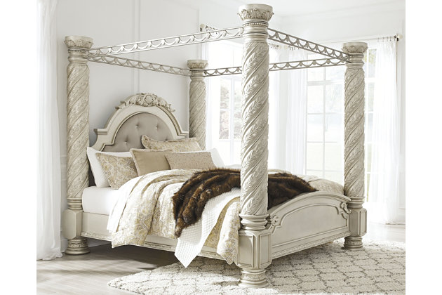 Cassimore King Poster Bed With Canopy, Canopy Bed King Size