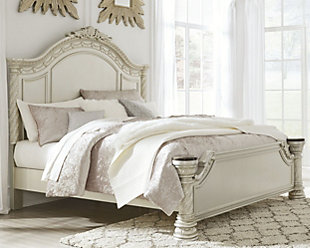 Cassimore Queen Panel Bed, Pearl Silver, rollover