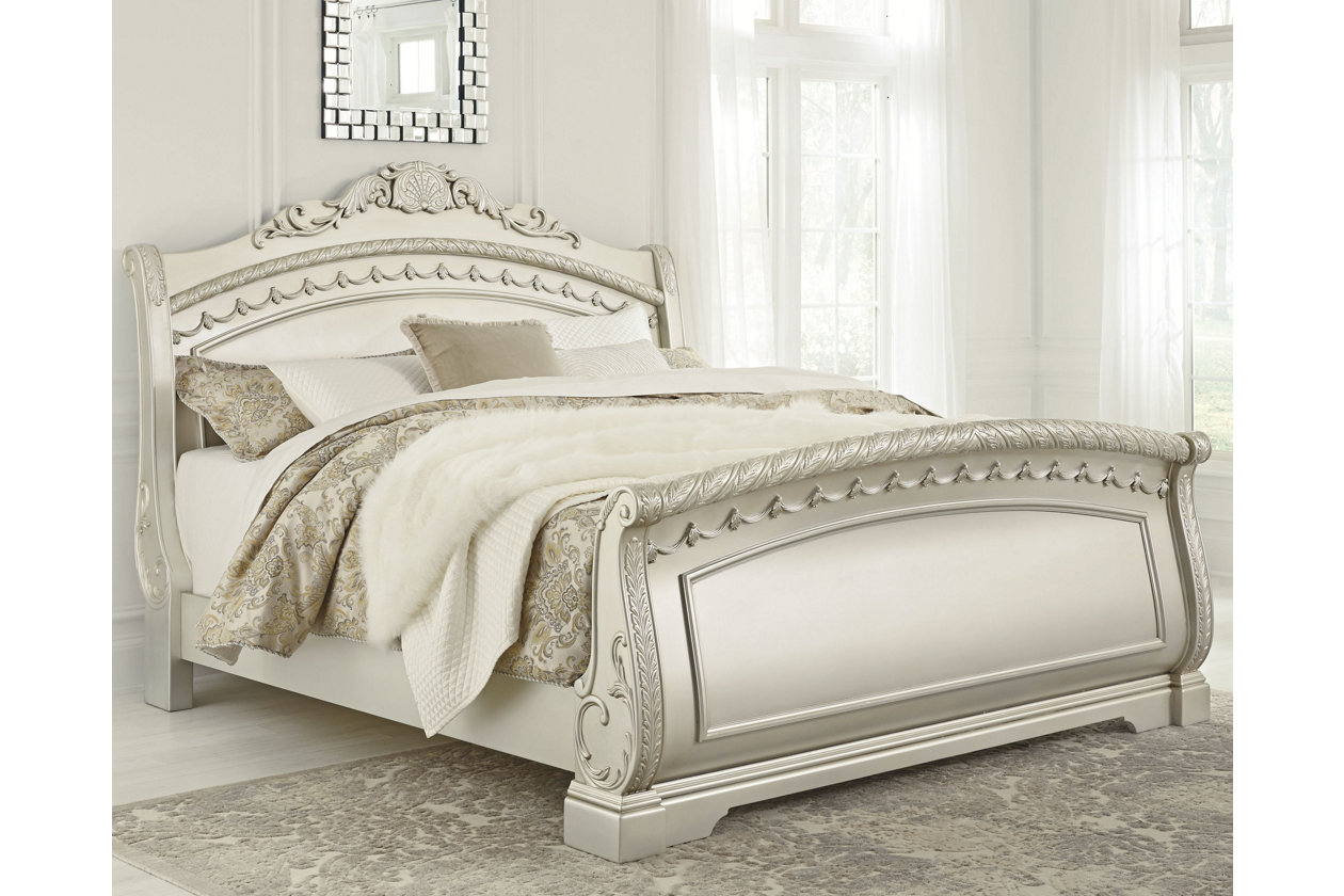 Cassimore Queen Sleigh Bed Ashley Furniture Homestore
