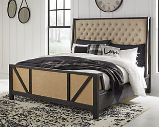 Grindleburg Queen Panel Bed, Light Brown, rollover