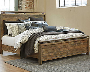 Sommerford King Panel Bed, Brown, rollover