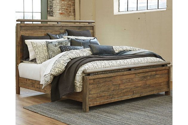 the afhs beautiful panel ashley fanzere furniture from floor platform homestore beds queen bed
