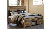 Sommerford Queen Storage Bed, Brown, rollover