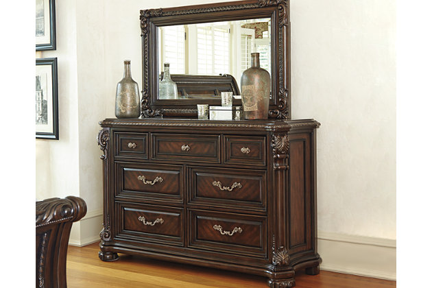 valraven dresser and mirror ashley furniture homestore 14275 | apk b780 dm 10x8 crop afhs pdp main
