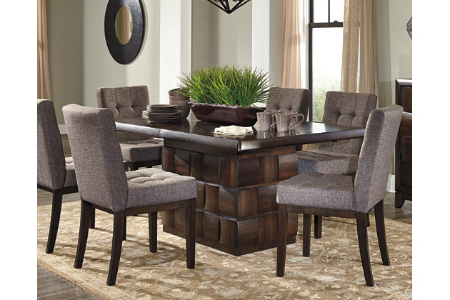 Chanella Table and Base by Ashley HomeStore, Brown