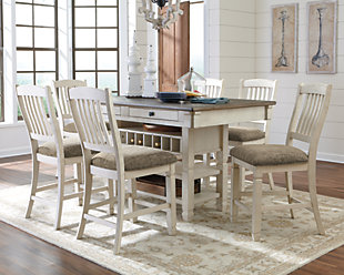 Kitchen dining room furniture ashley furniture homestore large bolanburg 5 piece counter dining room rollover workwithnaturefo