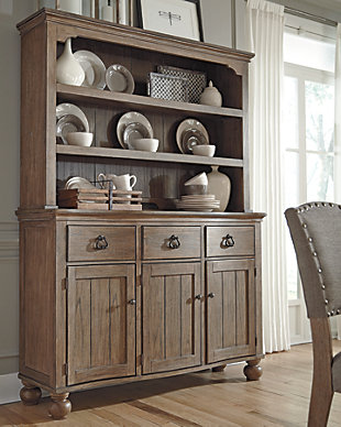 dining room storage buffets servers ashley furniture homestore - Dining Room Hutch And Buffet