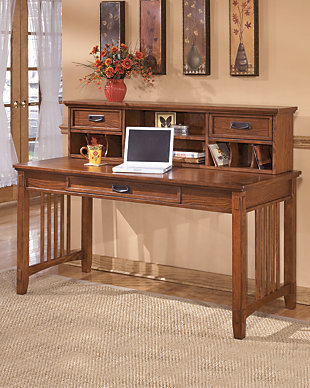 Cross Island 2-Piece Home Office Large Desk with Low Hutch, , rollover