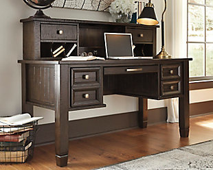 Large Townser Home Office Desk With Hutch Rollover