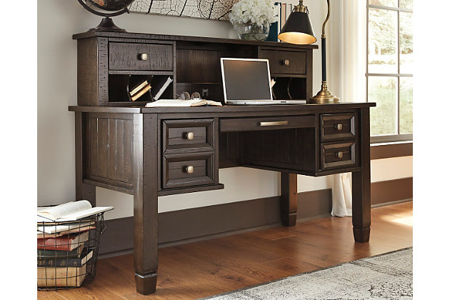 Awesome Townser Home Office Desk With Hutch, , Large ...