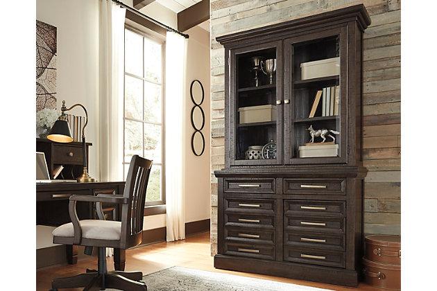 Townser Credenza With Hutch Ashley Furniture Homestore