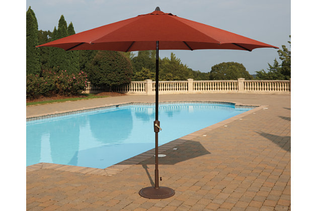 Burnt Orange Umbrella Accessories Patio Umbrella View 4