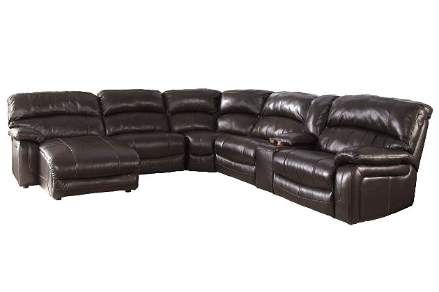 Damacio 6-Piece Reclining Sectional with Chaise and Power, , large