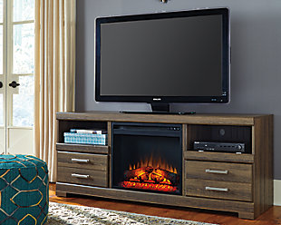 "Frantin 64"" TV Stand with Electric Fireplace, , large"