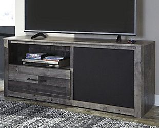 Large Derekson 59 Tv Stand With Wireless Pairing Speaker Rollover
