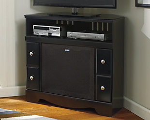"Shay 38"" TV Stand with Wireless Pairing Speaker, , rollover"