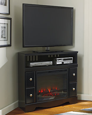 Shay Corner TV stand with Fireplace, , rollover