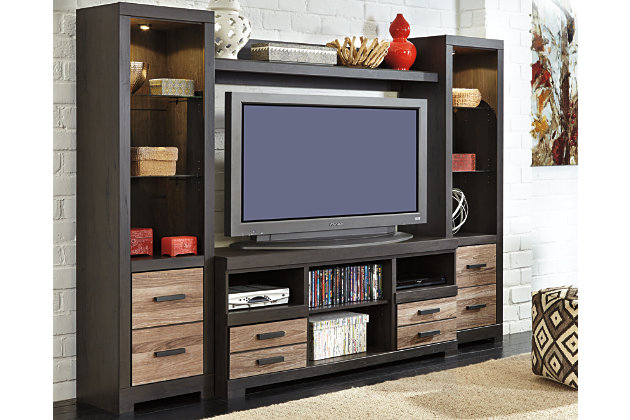Harlinton 4 Piece Entertainment Center Ashley Furniture