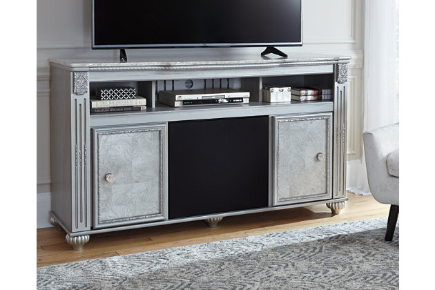 "Zolena 59"" TV Stand with Wireless Pairing Speaker, , large"