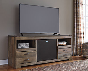 "Trinell 63"" TV Stand with Wireless Pairing Speaker, , rollover"