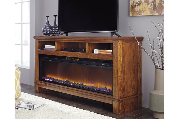 Ralene 65 Tv Stand With Electric Fireplace Ashley Furniture Homestore