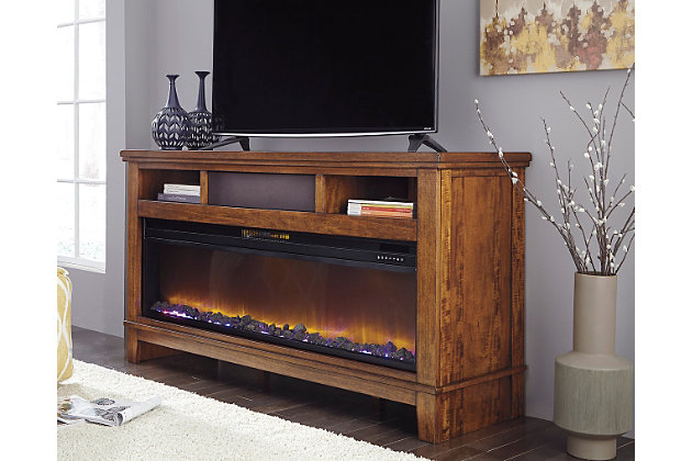 "Ralene 65"" TV Stand with Fireplace and Wireless Pairing Speaker, , large"