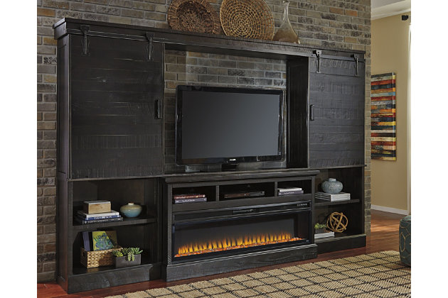 Sharlowe 4 Piece Entertainment Center With Fireplace Large
