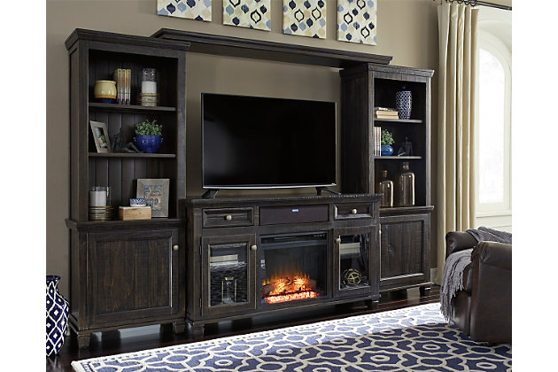 Townser Entertainment Center With Fireplace And Audio